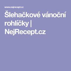 Šlehačkové vánoční rohlíčky | NejRecept.cz