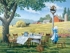 Come and Get It!  JohnSloaneArt.com - John Sloane - Gallery - Down on the Farm