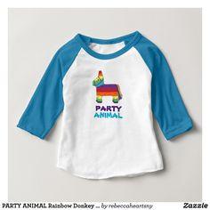 PARTY ANIMAL Rainbow Donkey Piñata Birthday Fiesta