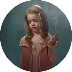 Belga Girl from the Smoking Kids series by photographer Frieke Janssens.  http://frieke.com/#!/projects/smoking-kids/37/