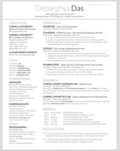 Resume Sample HttpWwwLatexresumeNetOurSamples  Latex