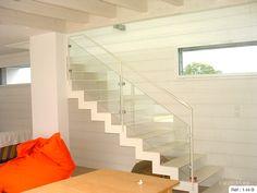 Fabricant escalier verre Bretagne : Vannes, Lorient, Rennes, Nantes.