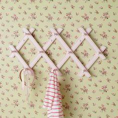 Accordian Peg Rack (White) in Shelves & Hooks | The Land of Nod