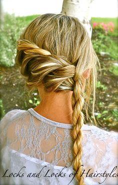 Bohemian Twist with a Rope Twist  #hair #braid #diy