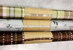 diy home sweet home: Did You Know...   Use toilet paper rolls to keep your wrapping paper in check.