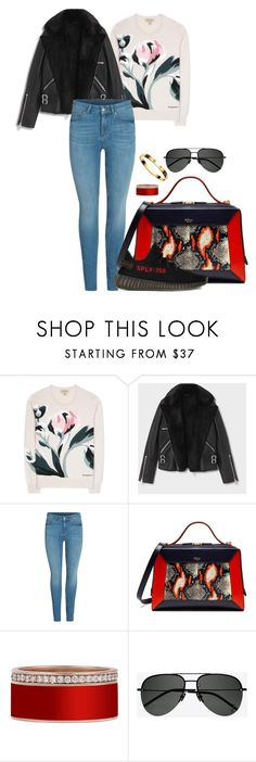 """Sin título #2677"" by moxfordf on Polyvore featuring moda, Burberry, AllSaints, Mulberry, adidas, Cartier y Yves Saint Laurent"