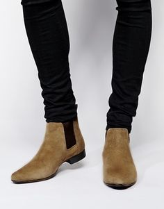 ASOS Chelsea Boots in Suede at asos.com