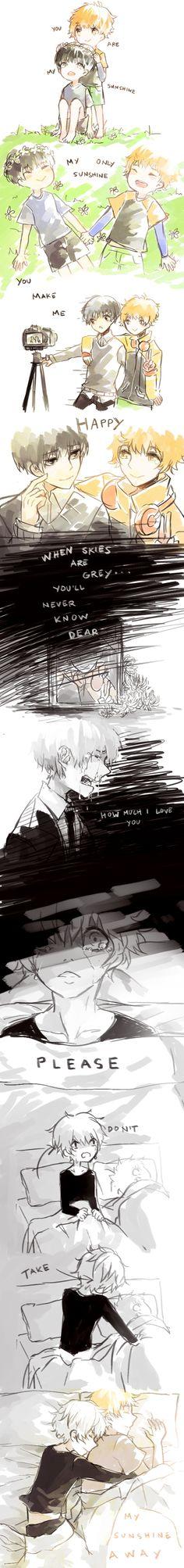 Tokyo Kushu, Kaneki Ken, Nagachika Hideyoshi<<Excuse me while I go cry in a corner<<Don't cry...craft...I'm sorry, it's a Phandom thing...but, I think I might go cry two...