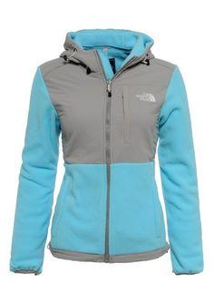 Womens The North Face Denali Fleece Hoodie Fortuna Blue