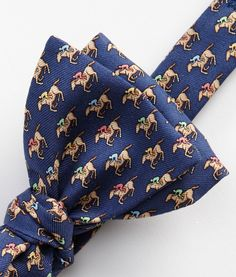 Men's Bow Ties: Jockey & Horse Printed Bow Tie for Kentucky Derby -Vineyard Vines