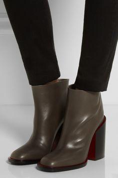Jil SanderChunky-heel leather ankle bootsfront