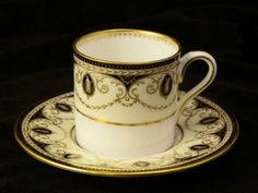 WEDGWOOD CAMEO DEMITASSE CUP AND SAUCER #WEDGWOOD