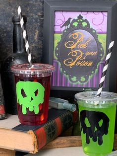 ~ Birthday Party Supplies Decor DISNEY VILLAINS POISON APPLE DRINK COASTERS 18