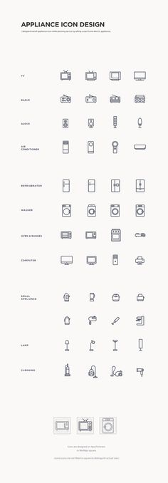 appliance icon design by jay lee.