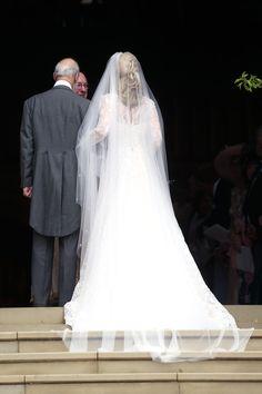 Lady Gabriella Windsor's wedding dress designer on creating a gown for a modern royal bride- HarpersBAZAARUK Sophisticated Wedding Dresses, Affordable Wedding Dresses, Country Wedding Dresses, Designer Wedding Dresses, Bridal Dresses, Bridal Veils, Royal Wedding Gowns, Royal Weddings, Eugenie Wedding