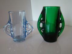 Eryka Trzewik-Drost, Zabkowice vintage art pressed glass, Poland, circa 1968 Pressed Glass, Mid Century Design, Vintage Art, Poland, 1970s, Glass Art, Art Deco, Porcelain, Antiques