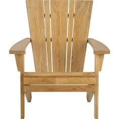 Vista Adirondack Chair in Outdoor Lounging | Crate and Barrel