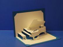 グランドピアノ(ポップアップカード)