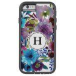 Monogram Aqua Boho Floral Bouquet Tough Xtreme iPhone 6 Case