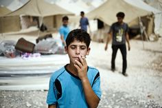 Ceylanpinar, Turkey, July 30, 2012. Photograph by Ayman Oghanna. More images of Syrian refugees in Turkey: http://nyr.kr/S9gouB