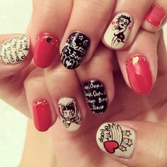 Bettyboop nails