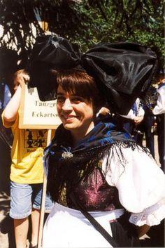 Badisches Trachtenfest 1999 in Haslach  Trachten aus dem Ried, dem Oberrheintal zwischen Schwarzwald und Rheinstrom
