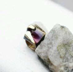 Lapponia Bjorn Weckstrom Vintage Finnish Flame Bronze Modernist Ring