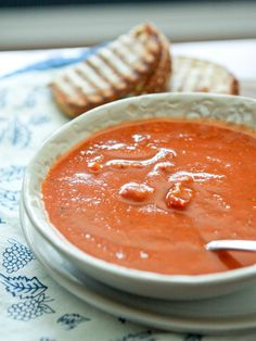 Tomato and White Bean Soup with Smoked Sundried Tomatoes