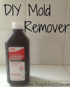 DIY MOLD REMOVER... Choose one of these two mixtures:  1/2 cup hydrogen peroxide and 1 cup water or 1 tsp tea tree oil and 1 cup water. Mix the two ingredients chosen in a spray bottle. Spray the mold/mildew and allow to sit for an hour. Rinse and wipe clean (you may need to scrub tougher mold).