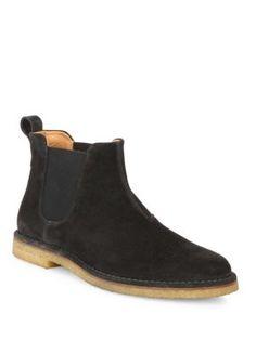 VINCE Sawyer Calf Suede Chelsea Boots. #vince #shoes #boots