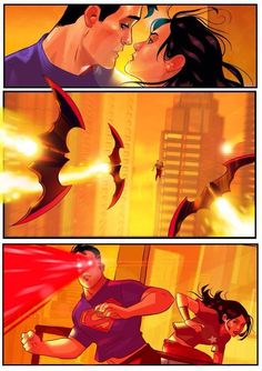 Stephen Byrne's awesome nine-page silent story stars modern makeover versions of DC's 'Trinity', Superman, Batman, and Wonder Woman, and has a surprising twist.