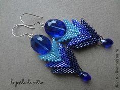 #beadwork Серьги ручной работы. Ярмарка Мастеров - ручная работа Серьги. Handmade.