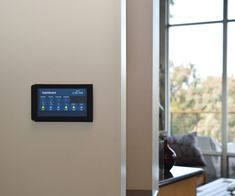 Flush Wall-Mounted Raspberry Pi Touchscreen #homeautomation #IoT