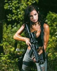 Home - Gun and Shooter - Shooting Guns & Having Fun Airsoft Girls, Surplus Militaire, Shooting Guns, Tough Girl, Military Girl, Female Soldier, Warrior Girl, Military Women, N Girls
