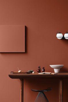 The Scandinavian company Jotun Lady predicts the interior colour trends of 2020 with 12 new colours Brown Interior, Interior Styling, Orange Interior, Jotun Lady, Wall Colors, Colours, Interior Color Schemes, Color Interior, Deco Design