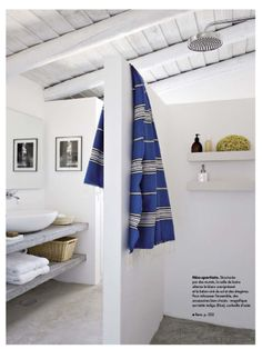 A super simple bathroom... From Elle Deco