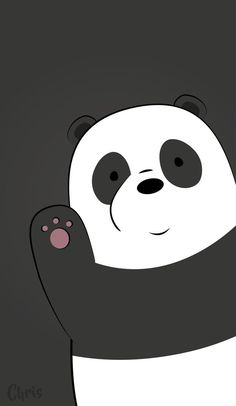 Grey Panda Wallpaper Cartoon Animated And People wallpaper for android mobile, Pin By Nicole Andrea Gene Durante On We Bare Bears Phone -- -- grey Cute Panda Wallpaper, Bear Wallpaper, Kawaii Wallpaper, Cute Wallpaper Backgrounds, Galaxy Wallpaper, Wallpaper Wallpapers, Hello Wallpaper, Phone Backgrounds, White Wallpaper