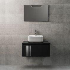 · || ARQUITECT || ·    El #baño se rinde a la fusión de blanco, negro y gris.  #diseñodebaños #interiorismo