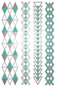 Geometric Jewelry Triangle Metallic Tattoos Arrow от ShimmerTatts