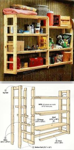 DIY Utility Shelf - Furniture Plans and Projects | WoodArchivist.com