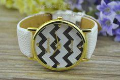 White leather bracelet watch women's wrist watch by BraceletTribal, $5.99 Fashion handmade leather jewelry
