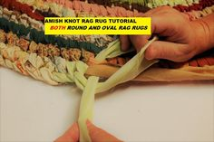 PDF Amish Knot Rag Rug Tutorial, Round Rug & Oval Rug Tutorial, AKA Toothbrush Rug Pattern, No Sew DIY Rag Rug Pattern. This is a tutorial of an Amish Knot rag rug. It is for BOTH round rugs and ova Oval Rugs, Round Rugs, Rag Rug Diy, Diy Rugs, Toothbrush Rug, Rag Rug Tutorial, Diy Tutorial, Braided Rag Rugs, Diy Braids