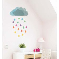 Cloud Rain Wall Decal