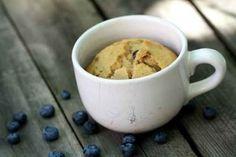 Muffin instantâneo de mirtilo