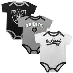 Lil man needs these Oakland Raiders Newborn Creeper Set - Black Silver White b0b7a3fd5