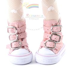Buckles Ankle Leather Sneakers Boots YoSD size Doll by Releaserain, $17.99