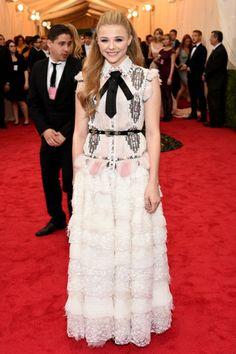 Red carpet del Costume Institute Gala 2014: Chloe Grace Moretz en Chanel