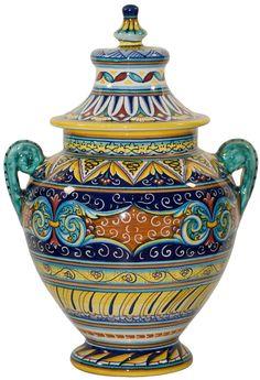 Italian Ceramic Cremation Urns                                                                                                                                                     Mais