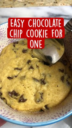 Mug Recipes, Fun Baking Recipes, Sweet Recipes, Cookie Recipes, Dessert Recipes, Quick Dessert, Easy Chocolate Chip Cookies, Chocolate Chip Recipes Easy, Delicious Desserts