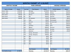 """Looks like one Icould actually use. """"Monthly Budget - Easy Worksheet"""""""